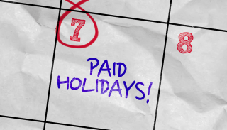 Dental staff paid holiday recommendations